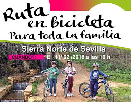 Ruta en bicicleta para niños y toda la familia en Sevilla