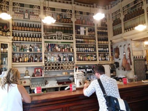 tapas eating in Seville